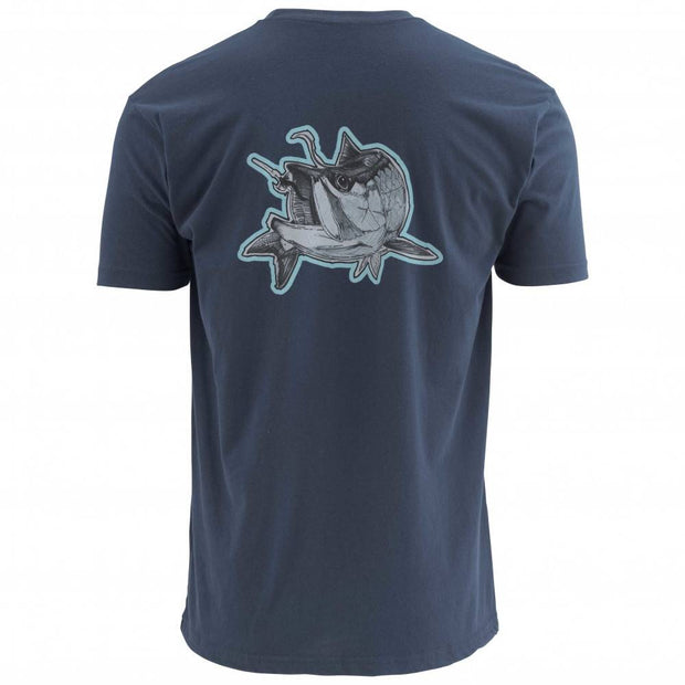 Simms Deyoung Tarpon Short Sleeve T-Shirt-T-Shirts-ADMIRAL BLUE-2XL-Kevin's Fine Outdoor Gear & Apparel