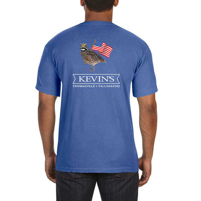 Kevin's Patriotic Bob Short Sleeve T-Shirt-T-Shirts-MYSTIC BLUE-S-Kevin's Fine Outdoor Gear & Apparel