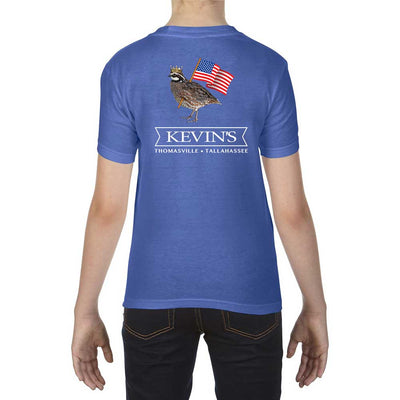 Kevin's Kids Patriotic Bob Short Sleeve T-Shirt-T-shirt-XS-FLO BLUE-Kevin's Fine Outdoor Gear & Apparel