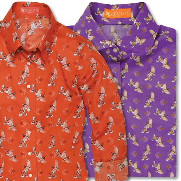 Kevin's Finest Ladies Quail Printed Shirt