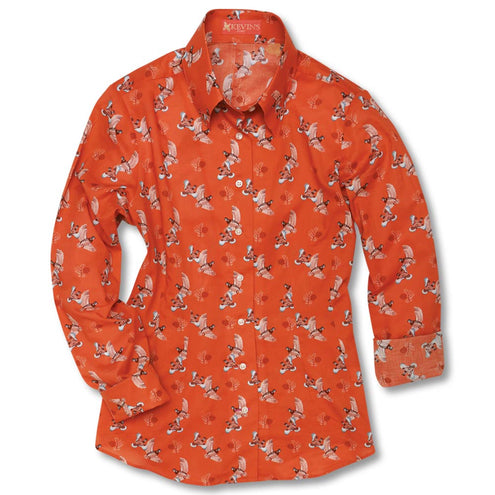 Kevin's Huntress Quail Printed Shirt-WOMENS CLOTHING-FIELD POPPY-XXL-Kevin's Fine Outdoor Gear & Apparel