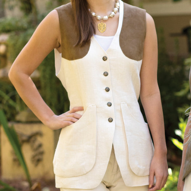T.Ba Ladies Linen Shooting Vest