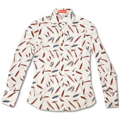 Ladies Longsleeve Feather Printed Shirt