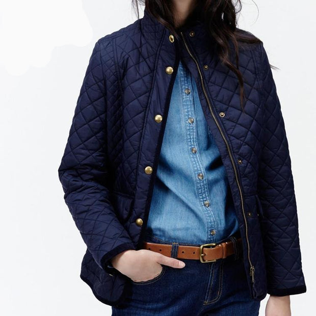 Joules Quilted Jacket 10 marine navy