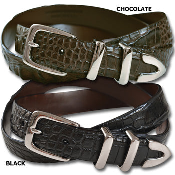 American Hornback Alligator Belt