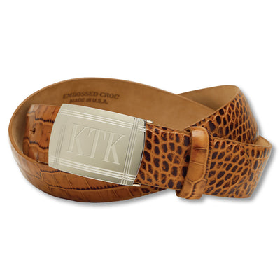 Embossed Crocodile Belt Personalized