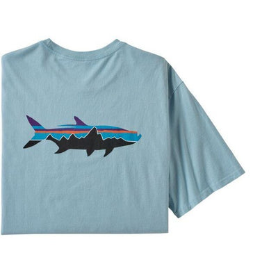 Patagonia Men's Fitz Roy Organic Fish T-Shirt-MENS CLOTHING-PATAGONIA, INC.-Big Sky Blue-S-Kevin's Fine Outdoor Gear & Apparel