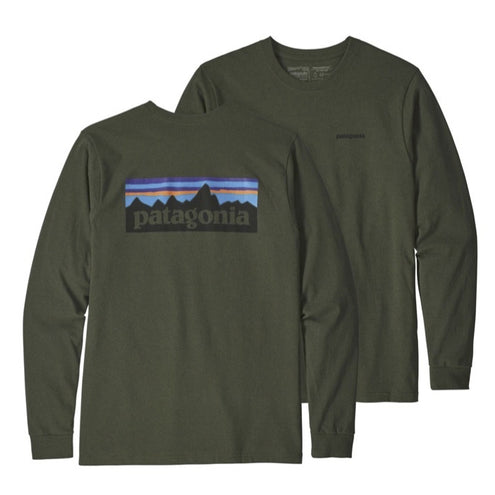 Patagonia Men's Long Sleeve P-6 Logo Responsibili-Tee T-Shirt-MENS CLOTHING-ALDER GREEN-L-Kevin's Fine Outdoor Gear & Apparel