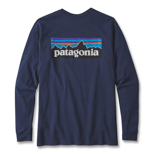 Patagonia Men's Long Sleeve P-6 Logo Responsibili-Tee T-Shirt-MENS CLOTHING-CLASSIC NAVY-M-Kevin's Fine Outdoor Gear & Apparel