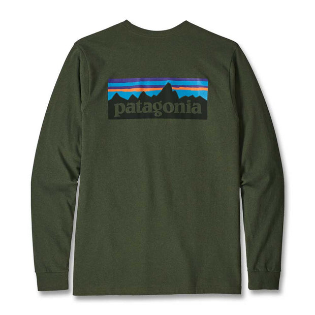 Patagonia Men's Long Sleeve P-6 Logo Responsibili-Tee T-Shirt-MENS CLOTHING-NOMAD GREEN-2XL-Kevin's Fine Outdoor Gear & Apparel