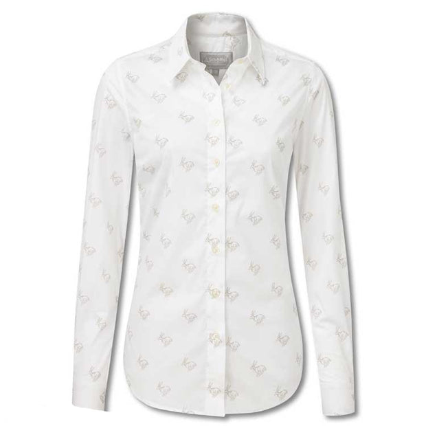 Schoffel Ladies Norfolk Shirt-WOMENS CLOTHING-Schöffel Country-MARBLE HARE-US10/UK14-Kevin's Fine Outdoor Gear & Apparel