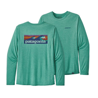 Patagonia Men's Long Sleeve Cap Cool Daily Graphic Shirt-T-Shirts-PATAGONIA, INC.-Beryl Green-S-Kevin's Fine Outdoor Gear & Apparel
