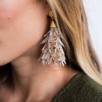 Brackish Feather Earrings-Anna Quail-JEWELRY-Anna Quail-Kevin's Fine Outdoor Gear & Apparel