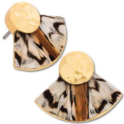 Brackish Gailey Quail Earrings-JEWELRY-Brackish-Kevin's Fine Outdoor Gear & Apparel