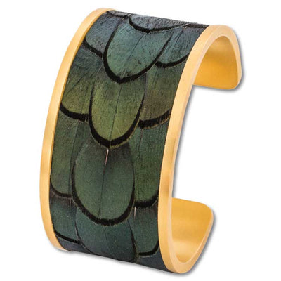 Brackish McKinney Pheasant Wide Cuff Bracelets-JEWELRY-Brackish-Kevin's Fine Outdoor Gear & Apparel