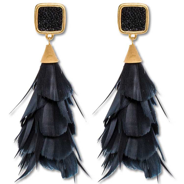 Brackish Feather Earrings