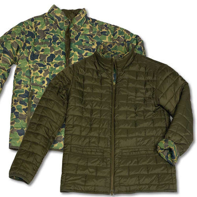 Kevin's Reversible Vintage Camo Quilted Puffer Jacket-MENS CLOTHING-OLIVE CAMO-S-Kevin's Fine Outdoor Gear & Apparel