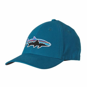Patagonia Fitz Roy Tarpon Stretch Fit Hat-MENS CLOTHING-PATAGONIA, INC.-UNDERWATER BLUE-SMALL-Kevin's Fine Outdoor Gear & Apparel