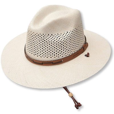 Stetson Airway Straw Hat-MENS CLOTHING-NATURAL-L-Kevin's Fine Outdoor Gear & Apparel