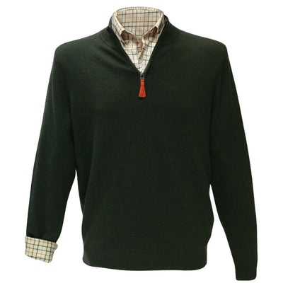 Kevin's Men's 1/4 Zip Merino Sweater