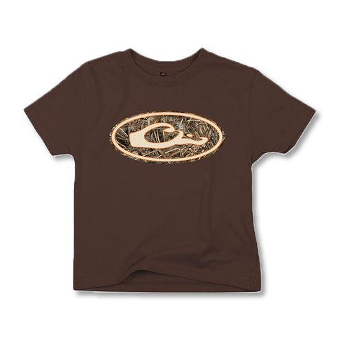 Drake Youth Oval Camo Logo-CHILDRENS CLOTHING-CHOCOLATE-L-Kevin's Fine Outdoor Gear & Apparel