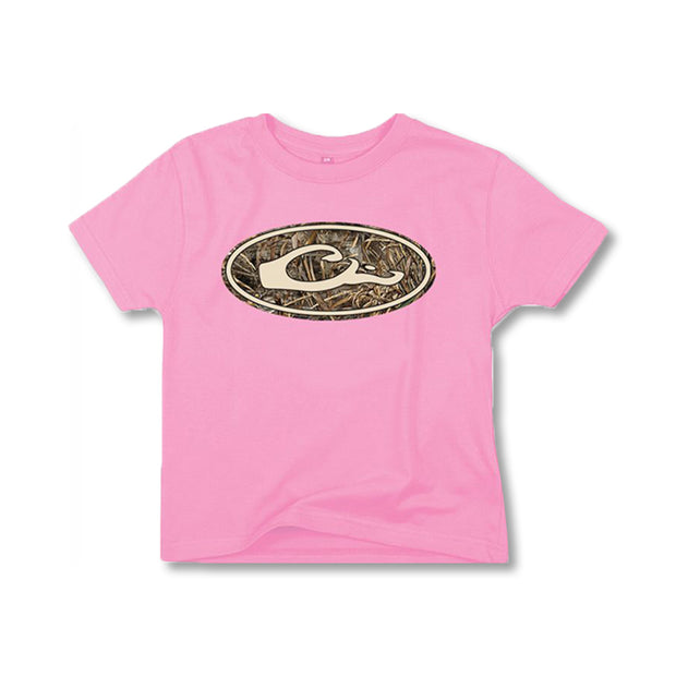 Drake Youth Oval Camo Logo-CHILDRENS CLOTHING-PINK-L-Kevin's Fine Outdoor Gear & Apparel