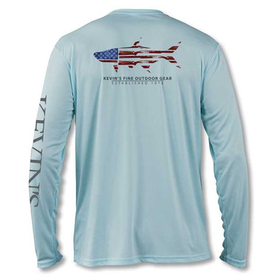 Kevin's Long Sleeve Performance T-Shirt - Gun Flag Tarpon