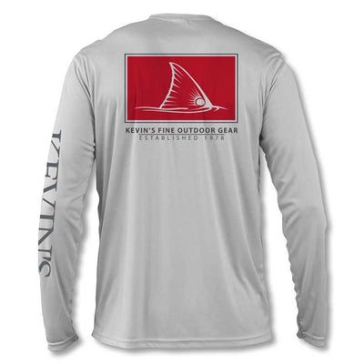 Kevin's Long Sleeve Performance T-Shirt - Red Fish