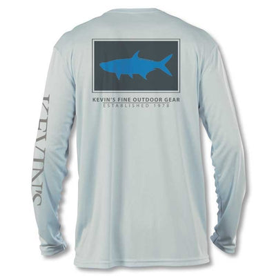 Kevin's Long Sleeve Performance T-Shirt - Blue Tarpon