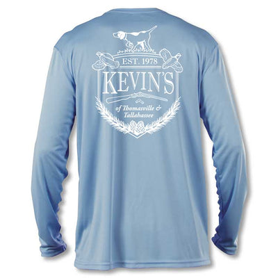 Kevin's Crest Kid's Long Sleeve Performance T-Shirt