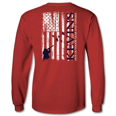Kevin's Long Sleeve American Hunter Flag T-Shirt