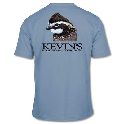 Kevin's Quail Head Short Sleeve T-Shirt-T-Shirts-WASHED DENIM-S-Kevin's Fine Outdoor Gear & Apparel