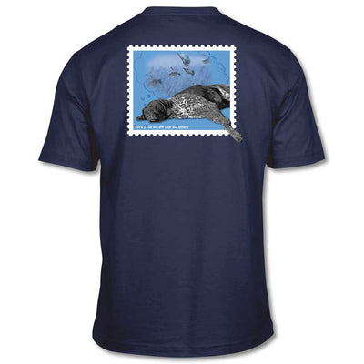 Kevin's Dreaming Dog Short Sleeve T-Shirt-T-Shirts-Navy-S-Kevin's Fine Outdoor Gear & Apparel