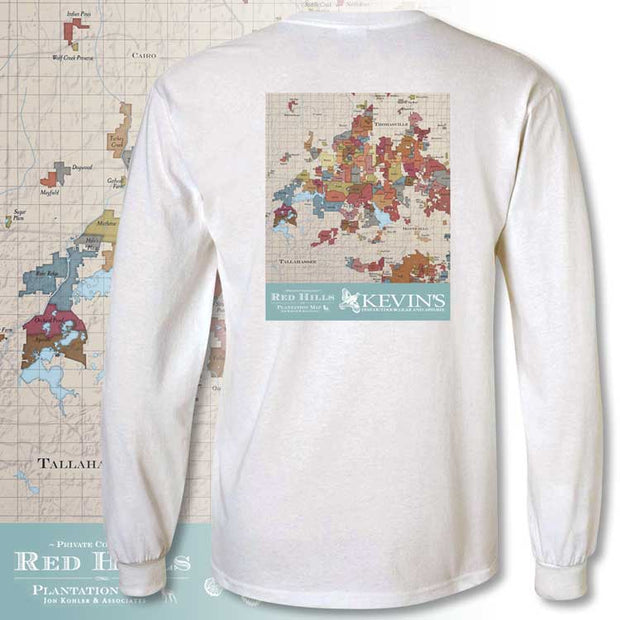 Kevin's Long Sleeve Red Hills Map T-Shirt
