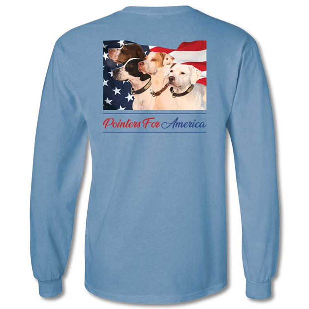 Kevin's Long Sleeve Pointers For America T-Shirt