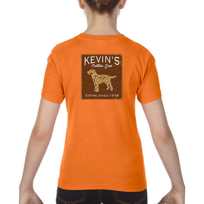Kevin's Kids Camo Dog Short Sleeve T-Shirt-CHILDRENS CLOTHING-BURNT ORANGE-XS-Kevin's Fine Outdoor Gear & Apparel
