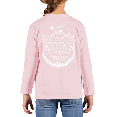 Kevin's Kids Crest Performance Long Sleeve T-Shirt-CHILDRENS CLOTHING-PINK BLOSSOM-XS-Kevin's Fine Outdoor Gear & Apparel