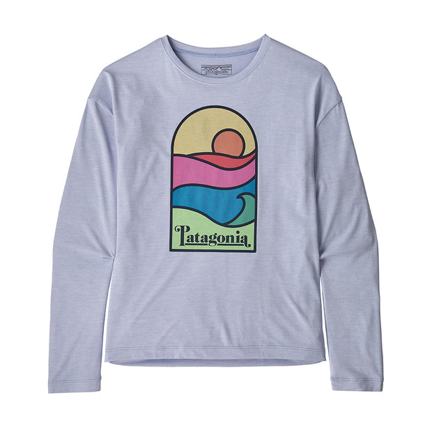 Patagonia Girl's Cap Cool Daily T-Shirt-CHILDRENS CLOTHING-PATAGONIA, INC.-Sunset Beluga-S-Kevin's Fine Outdoor Gear & Apparel
