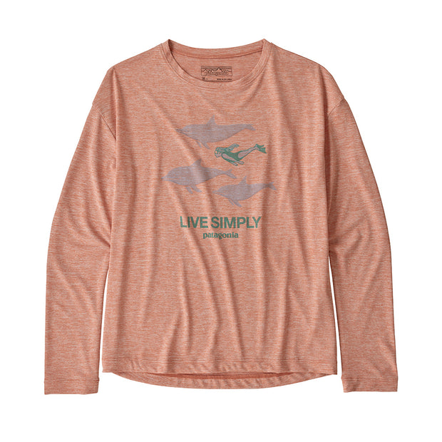 Patagonia Girl's Cap Cool Daily T-Shirt-CHILDRENS CLOTHING-PATAGONIA, INC.-Mellow Melon-S-Kevin's Fine Outdoor Gear & Apparel
