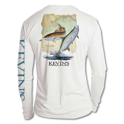 Kevin's St. James Bay Performance Long Sleeve Fishing Shirt-MENS CLOTHING-White-S-Kevin's Fine Outdoor Gear & Apparel