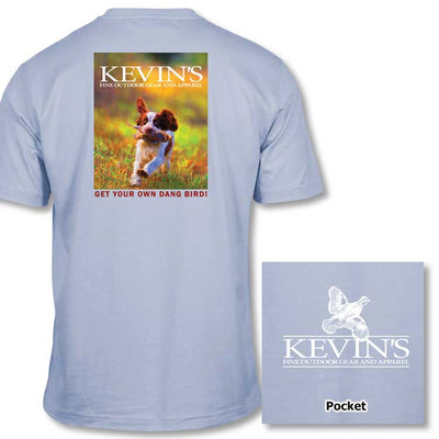 Kevin's Kid's Get Your Own Dang Bird Short Sleeve T-shirt-CHILDRENS CLOTHING-Ken Young Co-CHAMBRAY-L-Kevin's Fine Outdoor Gear & Apparel