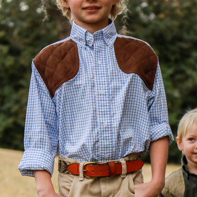Kevin's Kids' Performance Tattersall Shooting Shirt-CHILDRENS CLOTHING-Kevin's Fine Outdoor Gear & Apparel