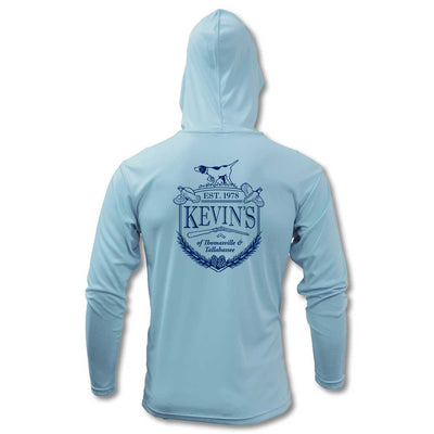 Kevin's Xtreme Tek Long Sleeve Hoodie-MENS CLOTHING-Ice Blue-S-Kevin's Fine Outdoor Gear & Apparel