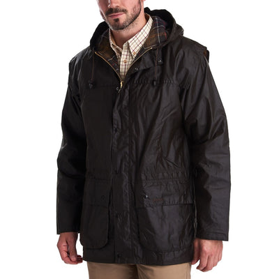 Barbour Men's Classic Durham Wax Jacket-MENS CLOTHING-Kevin's Fine Outdoor Gear & Apparel