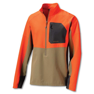 Orvis Pro LT Hunting Pullover-MENS CLOTHING-TAN/BLAZE-S-Kevin's Fine Outdoor Gear & Apparel