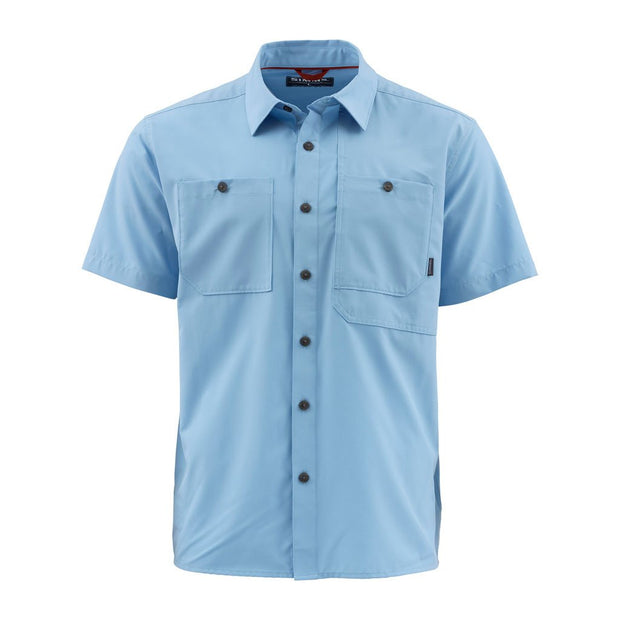 Simms Men's Double Haul S/S Shirt-MENS CLOTHING-Faded Denim-M-Kevin's Fine Outdoor Gear & Apparel