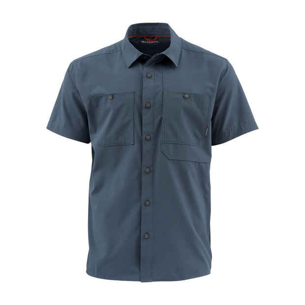 Simms Men's Double Haul S/S Shirt-MENS CLOTHING-Dark Moon-M-Kevin's Fine Outdoor Gear & Apparel