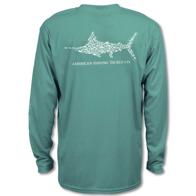 Aftco Jig Fish Long Sleeve Performance Shirt-MENS CLOTHING-Agate-M-Kevin's Fine Outdoor Gear & Apparel