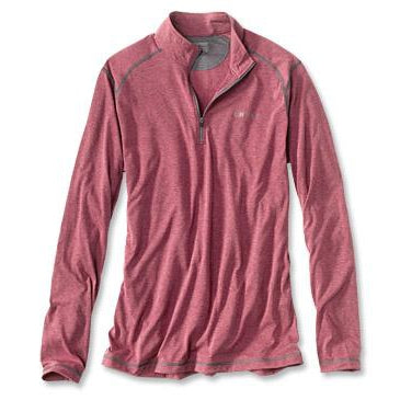 Orvis DriRelease 1/4-Zip T-shirt-MENS CLOTHING-Barn Red-S-Kevin's Fine Outdoor Gear & Apparel