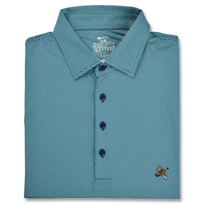 Kevin's Stretch Performance Polo-MENS CLOTHING-NAVY/FLORIDA GREEN-S-Kevin's Fine Outdoor Gear & Apparel